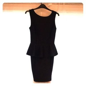 Topshop peplum dress